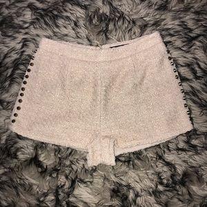 Pants - Cream Stud Shorts